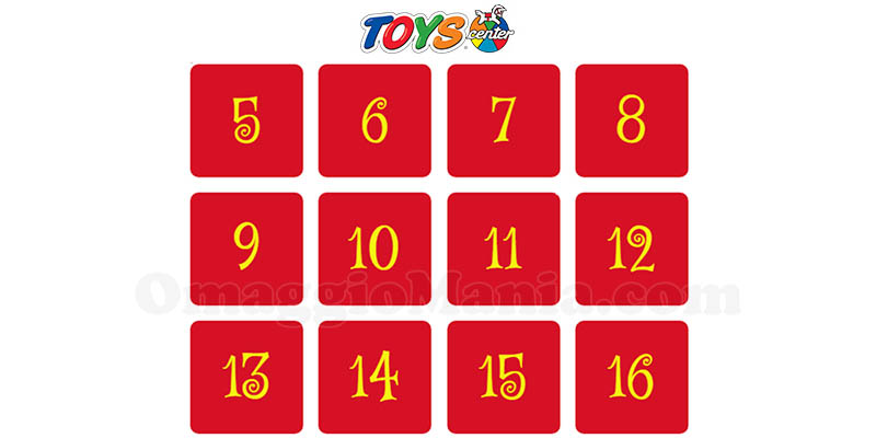 calendario Avvento Toys Center 2017
