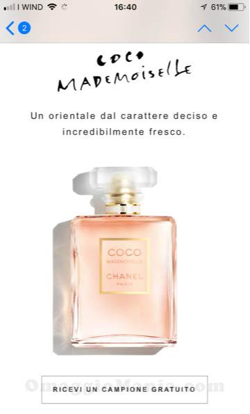 campione omaggio Chanel Coco Mademoiselle di Simona
