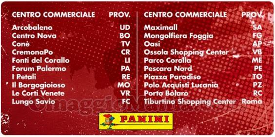 centri commerciali album Panini Calciatori 2017-2018 omaggio