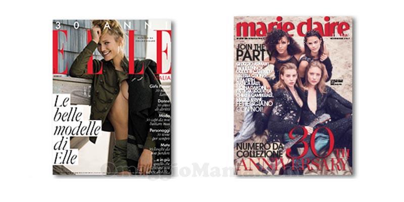 coupon omaggio Elle 12 e Marie Claire 12