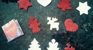 decorazioni natalizie in feltro con Latte Merano