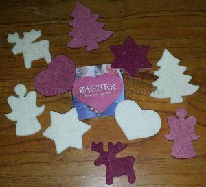 decorazioni natalizie in feltro con Latte Merano di Regina