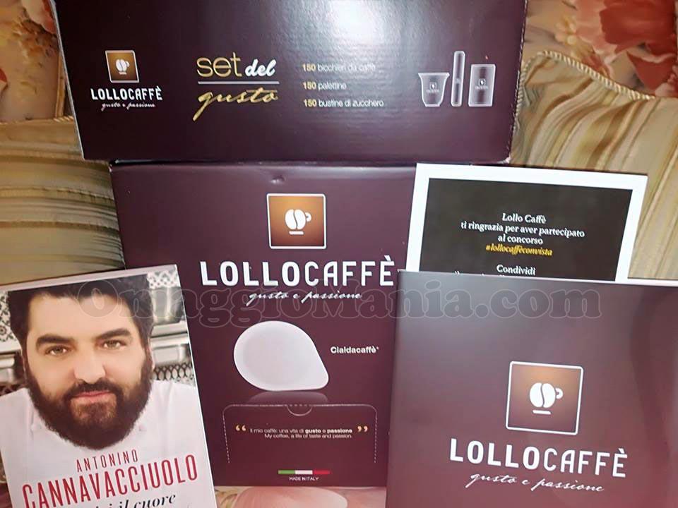 fornitura di Lollo Caffè, set del gusto e libro autografato da Antonino Cannavacciuolo