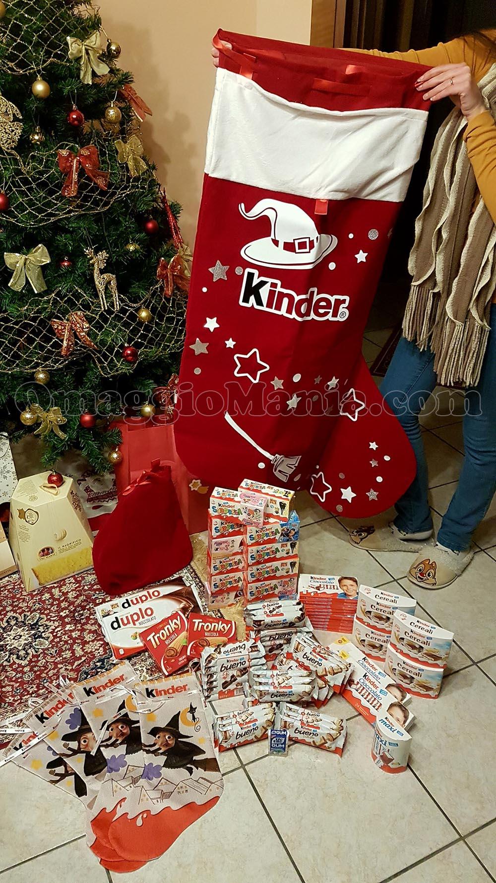 ultimo di vendita caldo ufficiale più votato scegli ufficiale Calza gigante Kinder vinta gratis - OmaggioMania