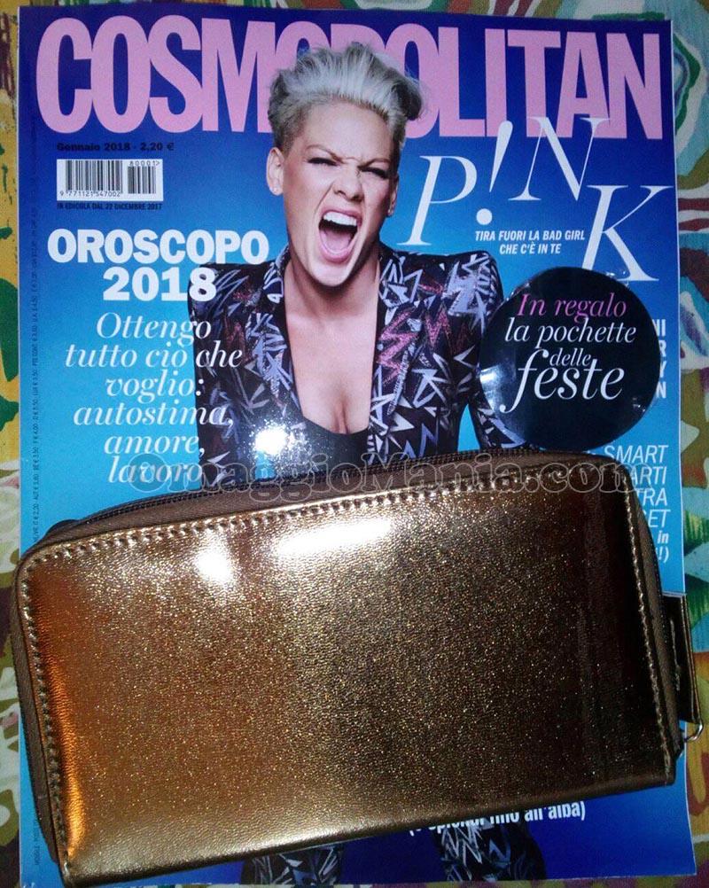 pochette Cosmopolitan gennaio 2018