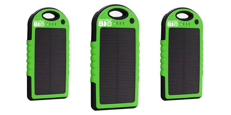 power bank energia solare Carrefour Bio
