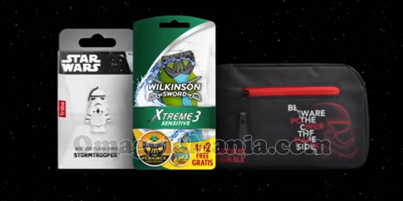 rasoio Wilkinson Xtreme 3, beauty case o chiavetta USB Star Wars