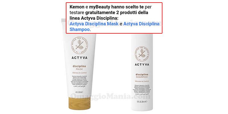 selezione tester Actyva Disciplina Kemon