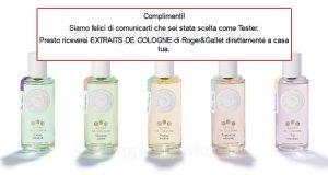 selezione tester Extraits de Cologne Roger&Gallet