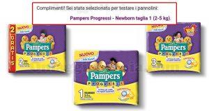 selezione tester pannolini Pampers Progressi