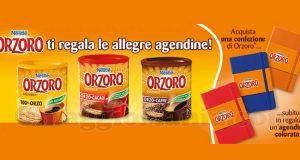 Nestlé Orzoro ti regala le allegre agendine