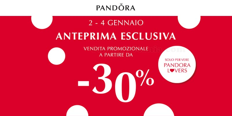 rivenditore di vendita 23ca0 0fe73 Sorpresa esclusiva Pandora? Sconti a partire dal 30 ...