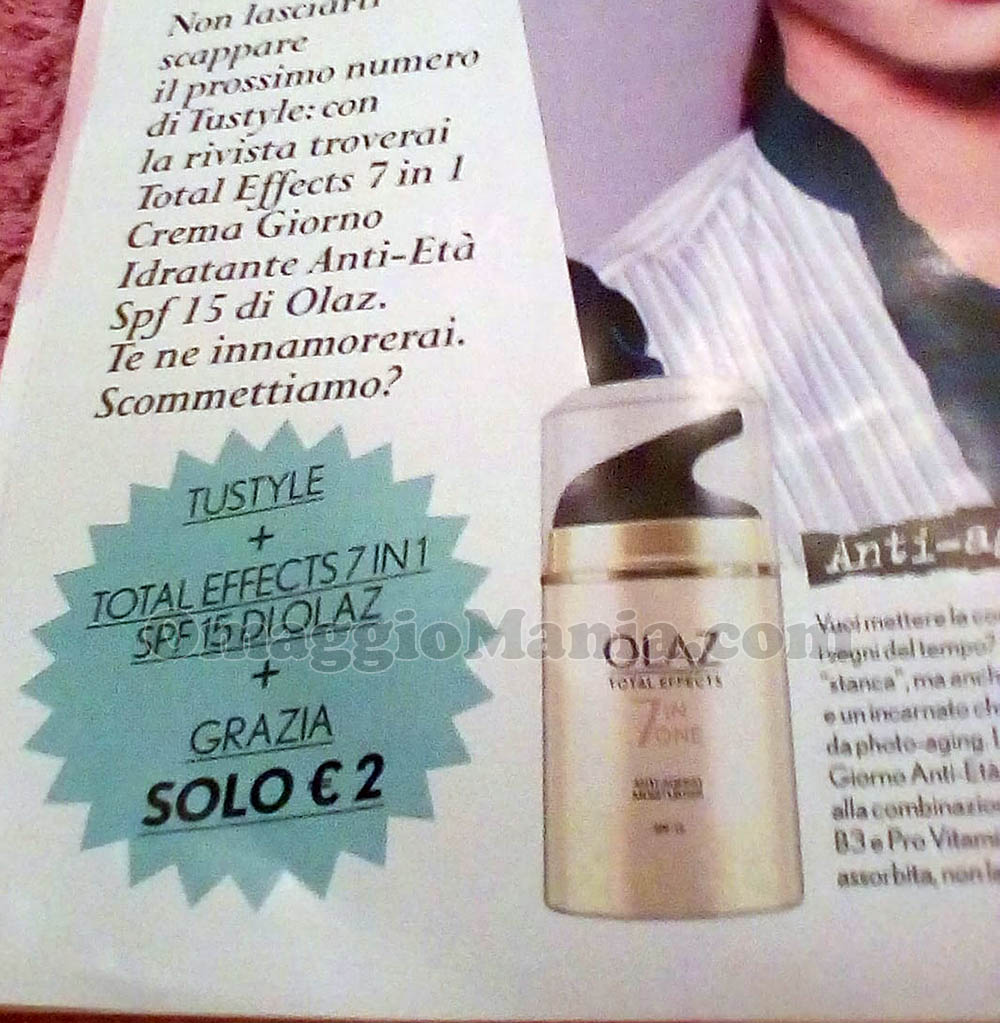 anticipazione Total Effects 7 in 1 con TuStyle e Grazia di Maria