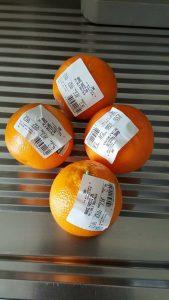 arance etichette senza sacchetti bio