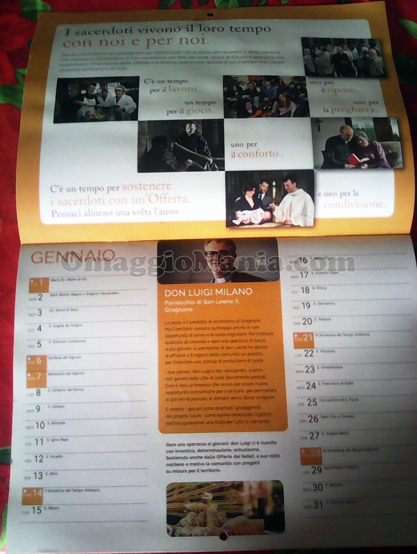 calendario 2018 Insieme ai sacerdoti di Lory