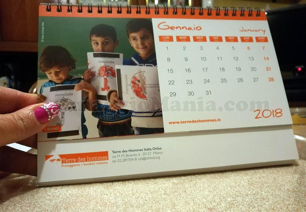 calendario Terre des Hommes 2018 di Cheneso