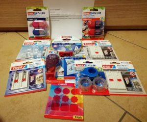 kit di prodotti TESA con il calendario dell'Avvento