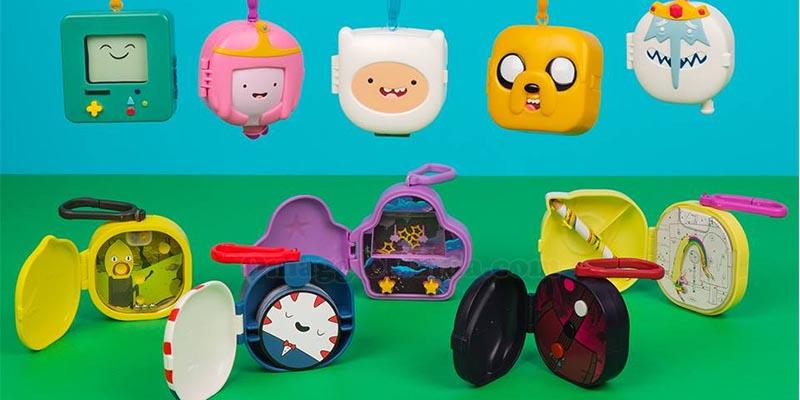 personaggi Adventure Time con Happy Meal da McDonald's