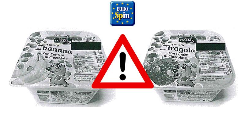 richiamo yogurt Pascoli Italiani Eurospin