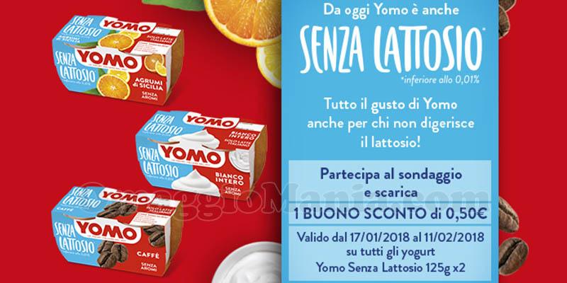 rispondi al sondaggio e ricevi buono sconto yogurt Yomo senza lattosio