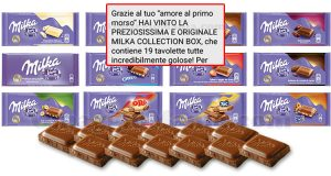 vincita Milka Collection Box di Caterina