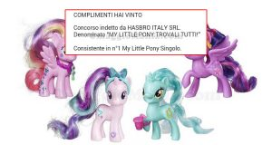 vincita My Little Pony Singolo