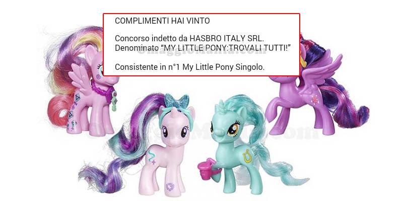 vincita My Little Pony Singolo