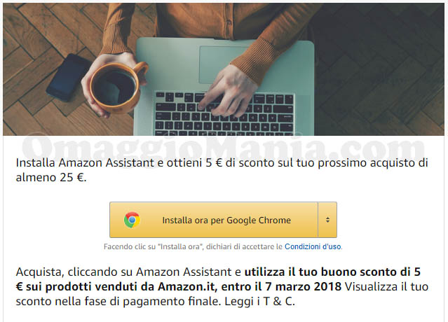 Amazon Assistant sconto 5 euro