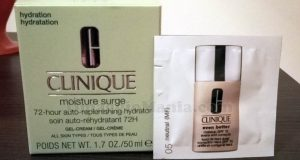 Clinique Moisture Surge 72-hour di Alessia con Opinion Model