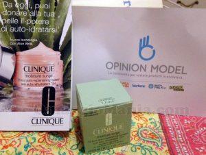 Clinique Moisture Surge 72-hour di Erika con Opinion Model