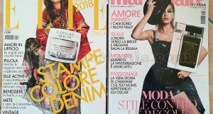 Elle n°2 e Marie Claire n°2 con campioncini Dior e Narciso Rodriguez