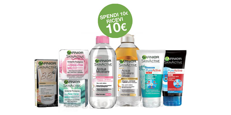 Garnier ti ripaga la spesa compra 10€, ricevi 10€