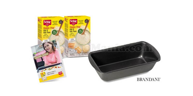 Schär Mix B Mix Pane ricettario Sonia Peronaci e stampo da forno Brandani