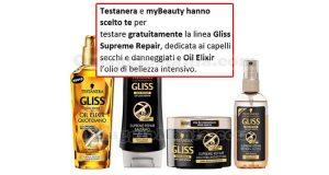Testanera Gliss Supreme Repair Oil Elixir selezione tester