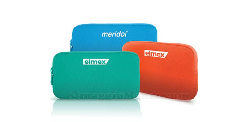 astuccio da viaggio omaggio con Elmex e Meridol