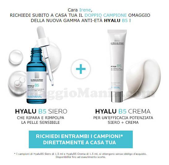 campioni omaggio La Roche-Posay Hyalu B5