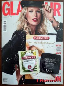 copia omaggio Glamour 307 con campioncini Pompadour e Dior di Valeria
