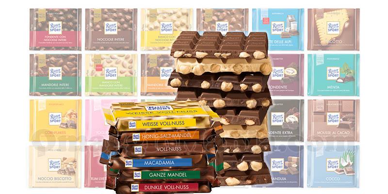fornitura completa cioccolato Ritter Sport
