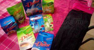 fornitura di prodotti Dietor, t-shirt, pantaloni yoga di Lucia