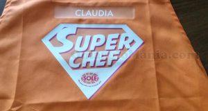 grembiule Sole con nome di Claudia