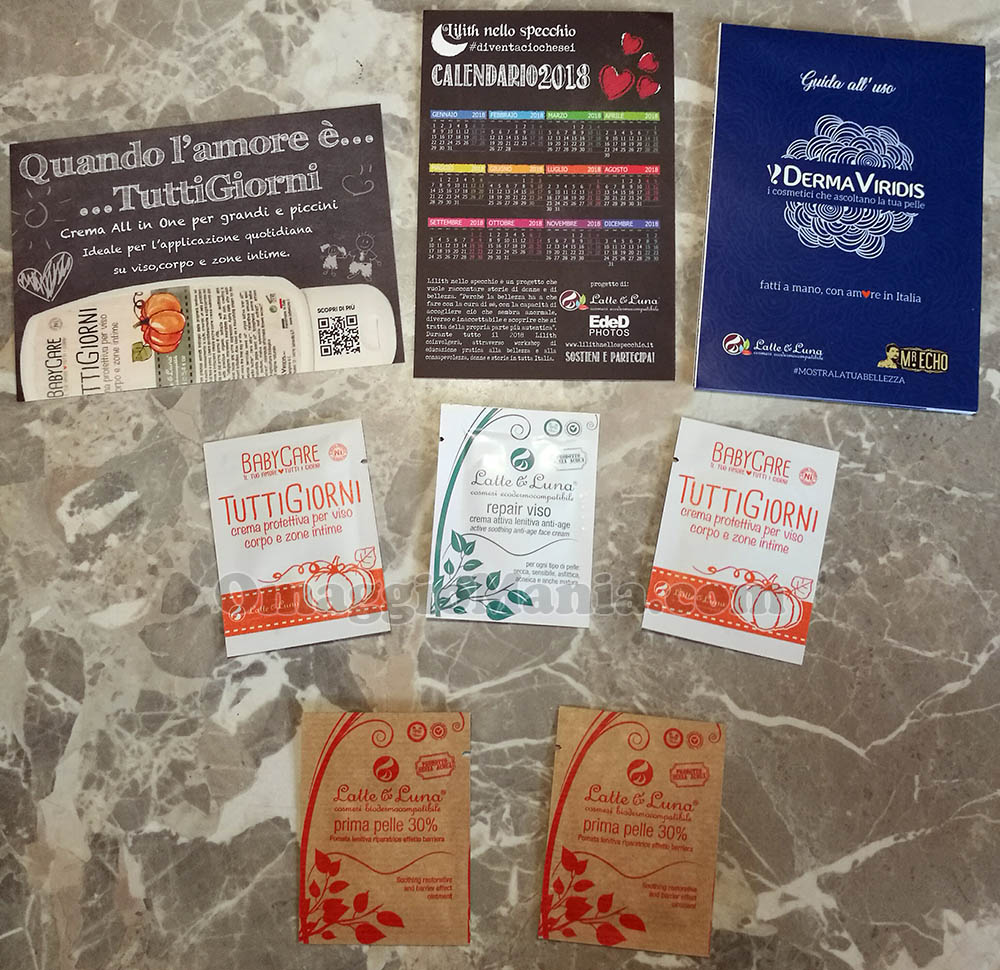 kit campioni omaggio Latte & Luna di Sole