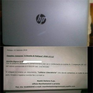 notebook HP con A scuola di PetCare di Maria