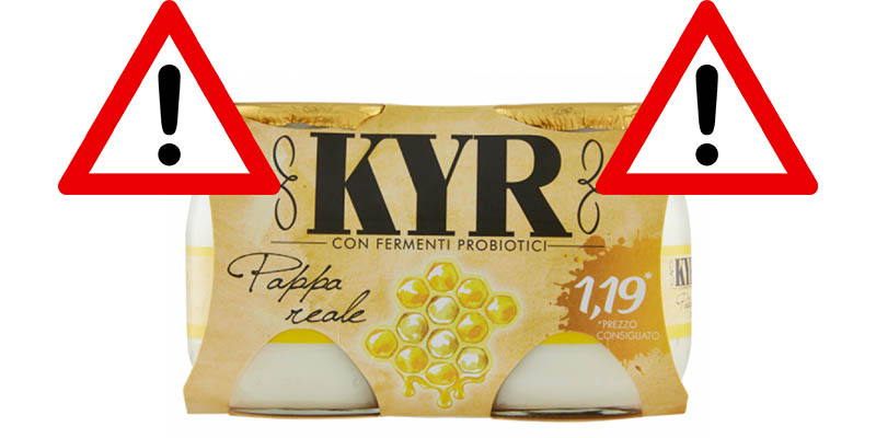 richiamo yogurt KYR Parmalat