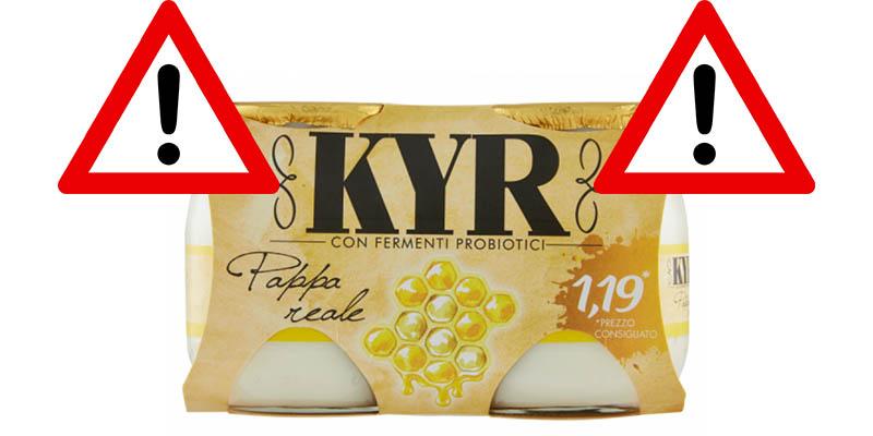 richiamo yogurt KYR Parmalat