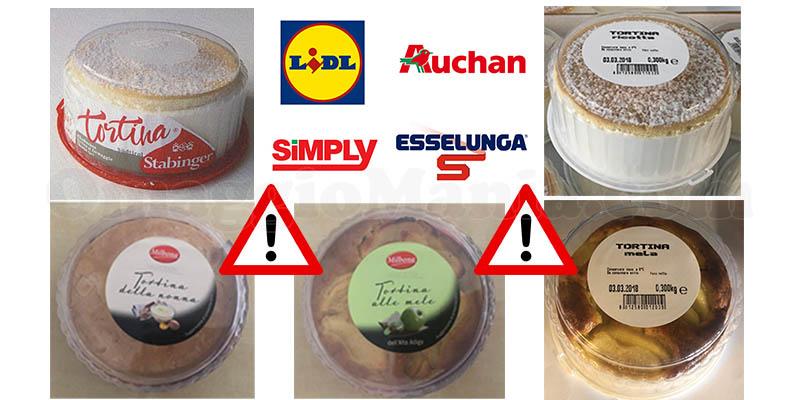 ritiro tortine da Lidl Auchan Simply Esselunga