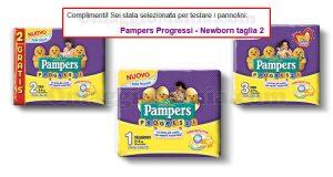 selezione tester Pampers Progressi Newborn