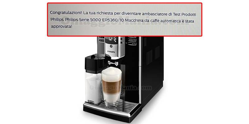 selezione tester macchina caffè Philips Serie 5000 EP5360