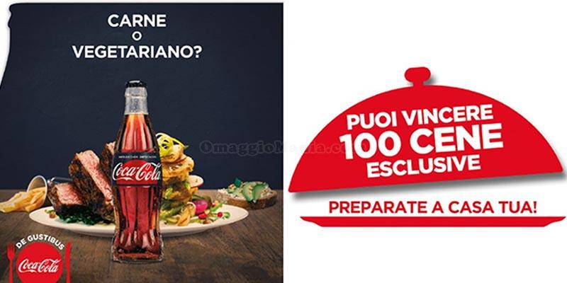 Con Coca Cola puoi vincere 100 cene esclusive preparate a casa tua