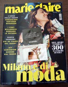rivista Marie Claire 3 e campioni omaggio di Mary