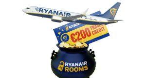 Ryanair's Pot of Gold vinci 200€ travel credit